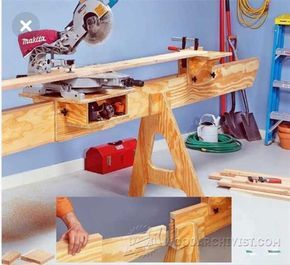 DIY Mitre Saw Stand.