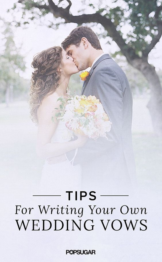 how to write a wedding vow So you thought it'd be great to write your own wedding vows, but now a healthy dose of writer's block (not to mention fear of embarrassing yourself) has.