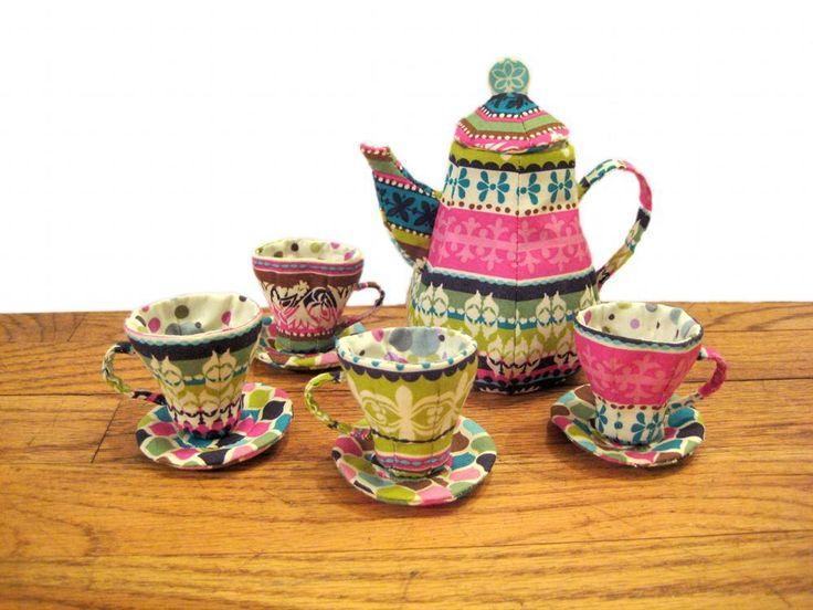 Mad Hatter Tea Set- free sewing pattern!