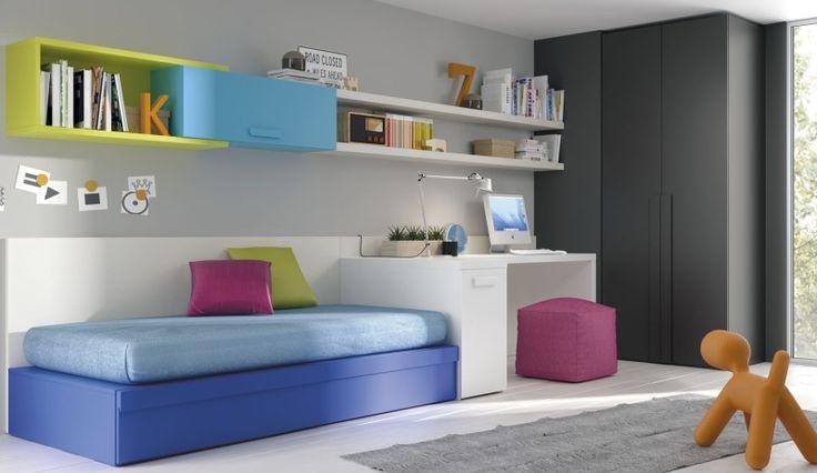 Youth bedroom colorido dormitorio juvenil con cama nido - Mueble cama nido ...