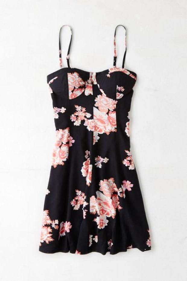 AEO Women's Printed Corset Dress
