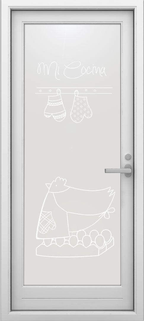 Original vinilo para puerta de cocina. #lovevinilos