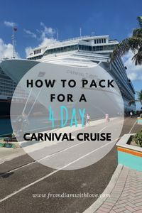 How to pack for a cruise | How to pack for a 4 day Carnival cruise | Packing tips | Travel tips #travel