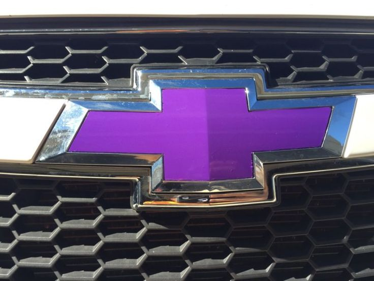 7 Purple Vinyl Sheets Wrap Chevy Universal Bowtie Emblem