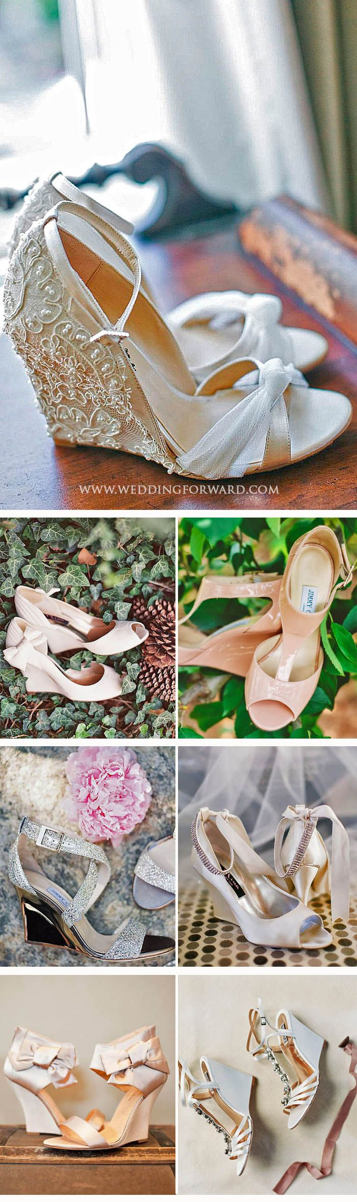 24 Wedge Wedding Shoes To Walk On Cloud ❤ From elegant wedge wedding shoes to sandal wedges, in these beautifull shoes you will floating on cloud from the morning to the unforgetable last dance. See more: http://www.weddingforward.com/wedge-wedding-shoes/ #weddings #shoes