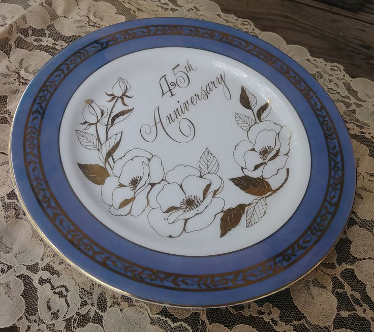 45th anniversary collectors plate by fine china