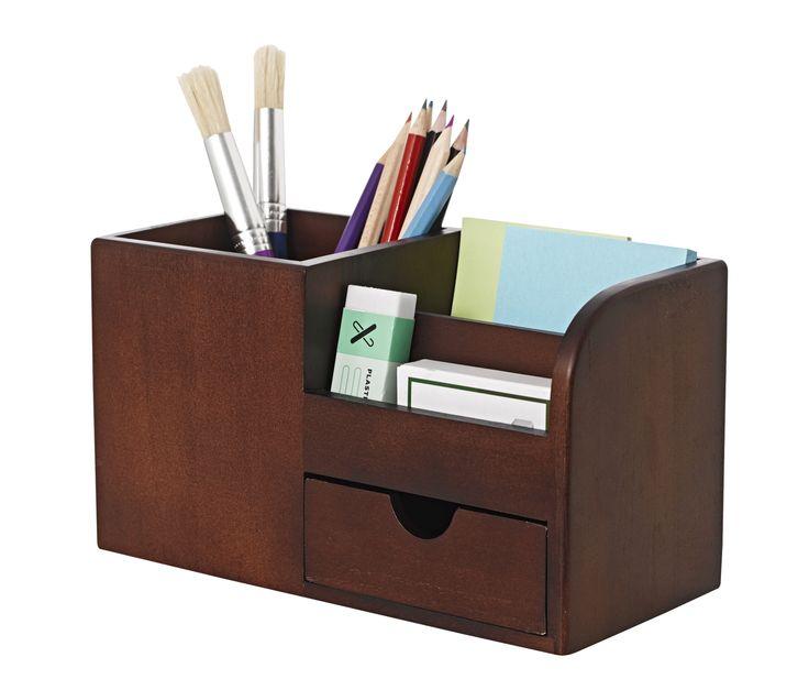 Desktop organiser mahogany