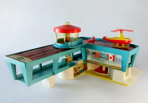 airport #fisher_price #little_people #vintage  I always wanted one of these, but never got one...just got to play with the Garcia's