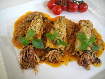 GEMISTA KALAMARIA: Gemista Kalamaria, Favorite Recipes