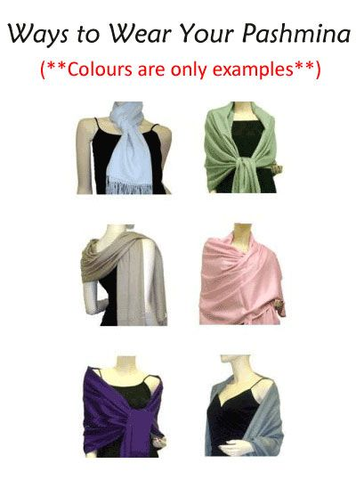 as you can see there are plenty of ways to wear these versitile scarves :)