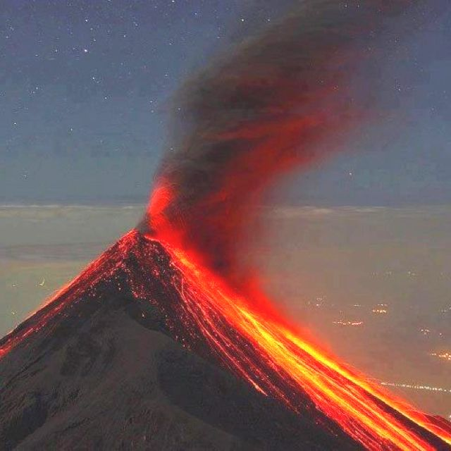 Pacaya Volcano in Guatemala erupted, on Sunday march 2, 2014 and it causing about 3,000 people to evacuate. This volcano is one of the most active volcanoes in Central America.
