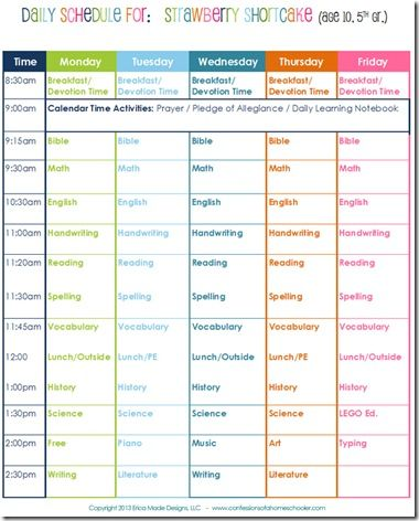 85 best Homeschool Schedules and Routines images on Pinterest - sample schedules schedule sample in word