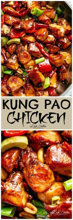 Kung Pao Chicken better than Chinese take out! Wit…