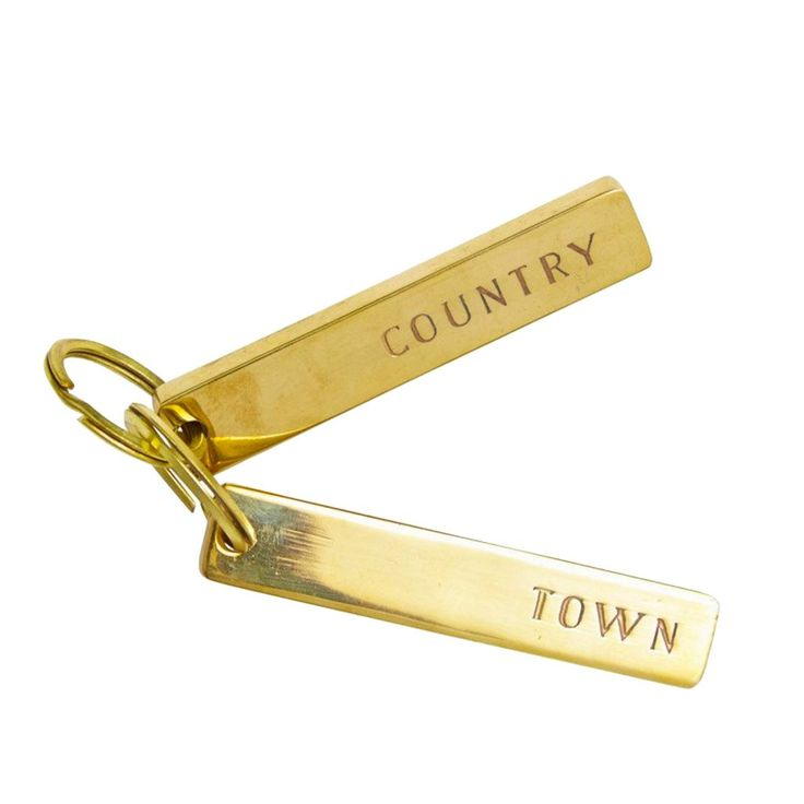Town & Country Solid Brass Key Chain