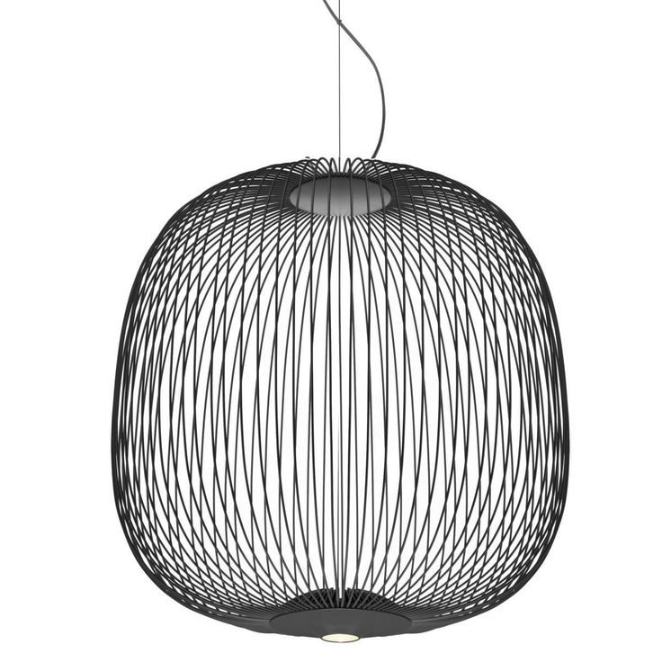 Spokes 2 hanglamp LED   Foscarini   Hanglamp, Lampen, Grafiet