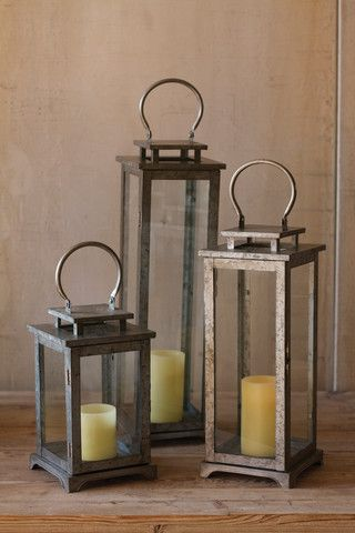 Kalalou Large Metal Lantern - Be sure to have plenty of these lanterns on hand to light up your home or yard using an led light Large lantern only.