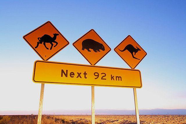 Une signalisation que vous ne trouverez qu'en Australie !