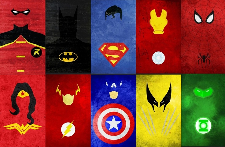 Revamp of superhero minimalist poster superhero decor - Poster super heros ...