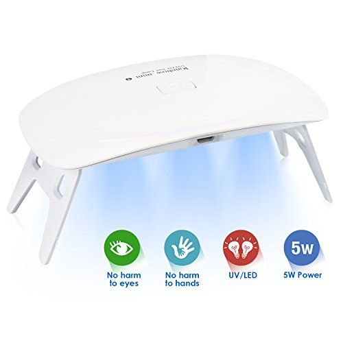 Mini Nail Dryer, Feagar Portable USB Nail Curing Lamp with 6 Durable LED Light, 45/60S 2 timer Setting for UV/LED Gel Based Polish, Acrylic Nail Manicure & Pedicure Tool, 5W, White. For product & price info go to:  https://beautyworld.today/products/mini-nail-dryer-feagar-portable-usb-nail-curing-lamp-with-6-durable-led-light-4560s-2-timer-setting-for-uvled-gel-based-polish-acrylic-nail-manicure-pedicure-tool-5w-white/