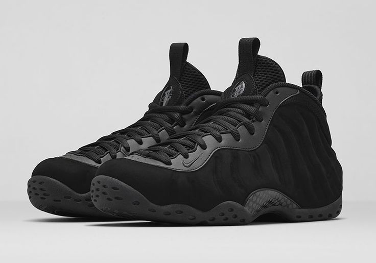 "Nike Air Foamposite One ""Black Suede"" Color: Black/Anthracite Release Date: 08/29/14 Price: $250"