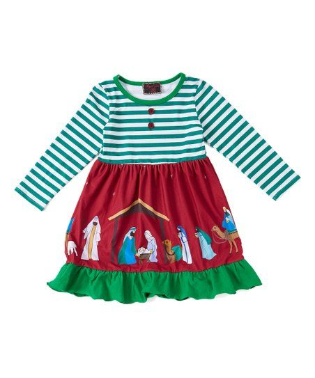 Bestow oodles of holiday joy to sweethearts with this oh-so adorable dress  that s crafted from breathable yet cozy fabric for all kinds of comfort. 325e1293f