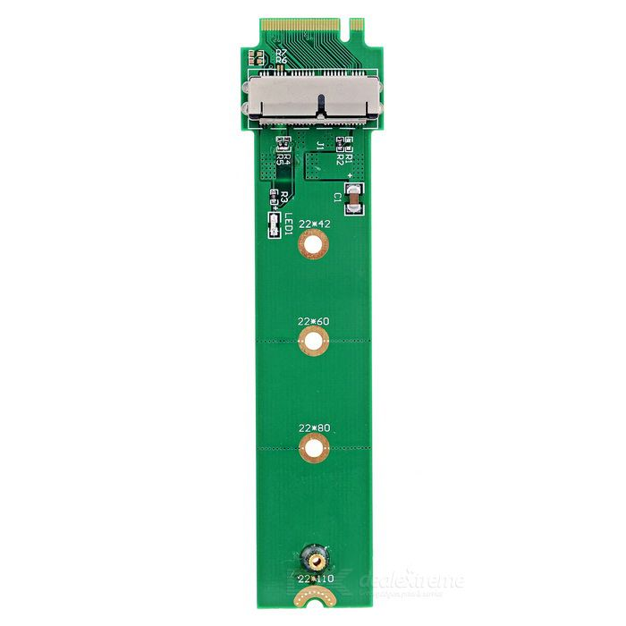 M.2 NGFF M-key Adapter Card for 2013 / 2014 / 2015 APPLE MACBOOK A1466 A1465 SSD - Green. Find the cool gadgets at a incredibly low price with worldwide free shipping here. M.2 NGFF M-Key SSD Adapter Card for APPLE MACBOOK A1466, A1465 - Green, Computer Cable&Adapter, . Tags: #Computers/Tablets #Networking #Cables #Adapters #Computer #Cable #Adapter