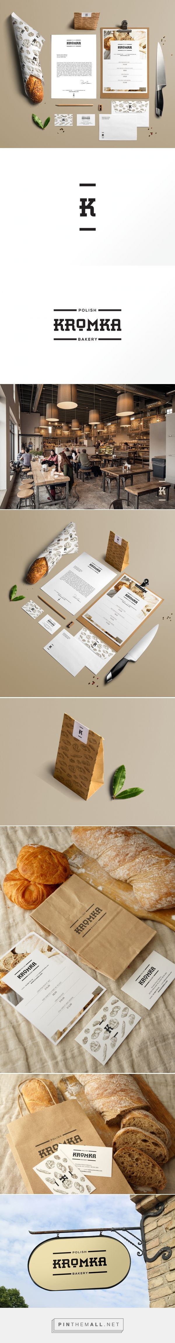 Kromka Polish Bakery packaging branding on Behance by Sebastian Bednark curated by Packaging Diva PD. Let's eat : )
