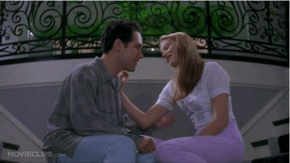 "Cher and Josh's kiss in ""Clueless."""