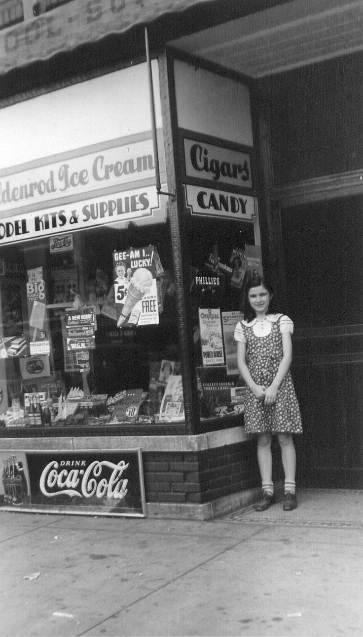 At the corner store Chicago Illinois 1937