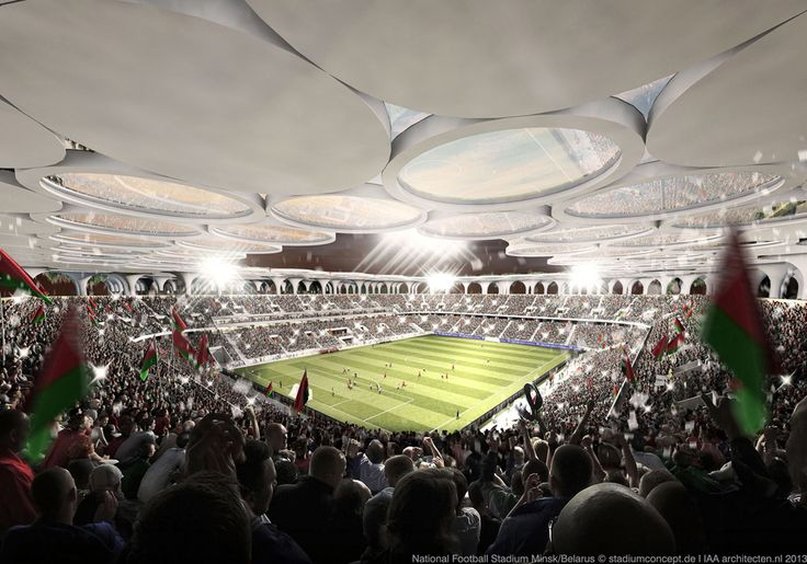 stadiumconcept and IAA architecten Create Stadium with Tractor Valve Columns