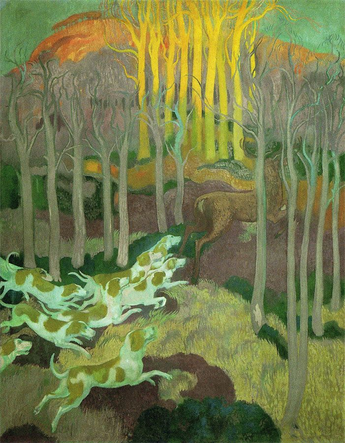 Panel 3 - La légende De Saint-Hubert, 1897 by Maurice Denis (French 1870-1943) Sept panneaux, huile sur toile © ADAGP, Paris 2010