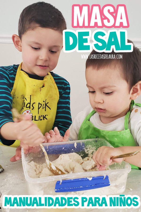 Masa de Sal para Niños Play Doh, Home, Fine Motor, Motor Skills, Silly Putty, Salt Dough, Easy Kids Crafts, Fun Activities, Infant Learning Activities