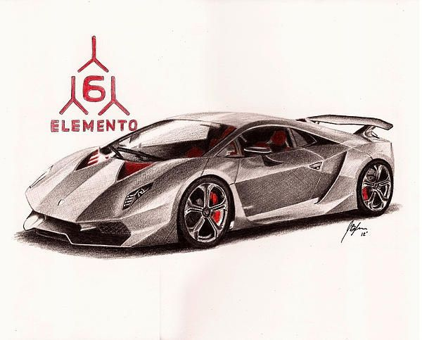 Lamborghini Sesto Elemento Canvas Print Canvas Art By Jason Bylsma