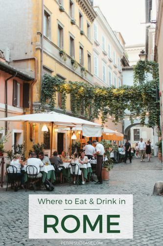 Where to Eat and Drink in Rome   Italy Travel Tips #italy