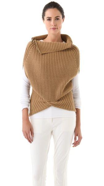 3.1 Phillip Lim Zip Neck Cocoon Vest