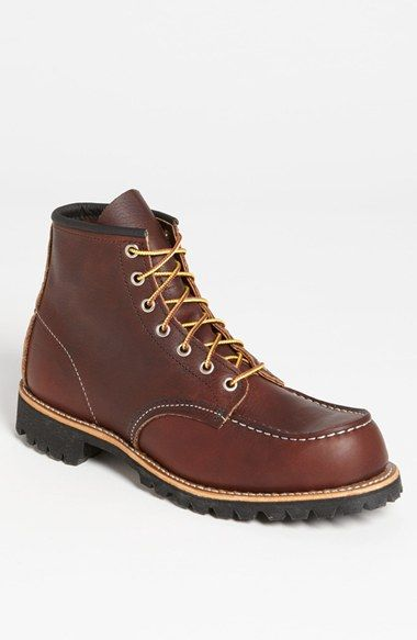 Free shipping and returns on Red Wing Moc Toe Boot (Online Only) at Nordstrom.com. A substantial Vibram® lug sole grounds a triple-stitched, Goodyear-welt boot styled after the footwear of working men from the early days of the 20th century.