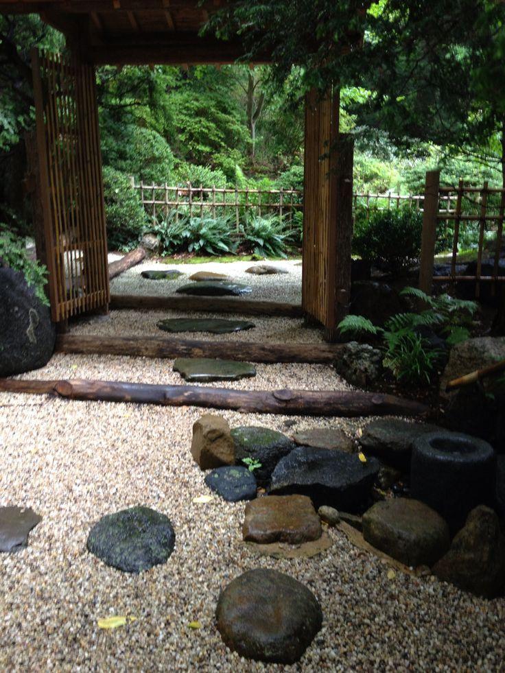 traditional japanese garden probably a tea hut