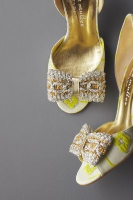 Brocade DOrsay HeelsFashion Shoes, Wedding Shoes, Girls Fashion, Weddingshoes, High Heels, Girls Shoes, Bridal Shoes, Betty Muller, Gold Shoes