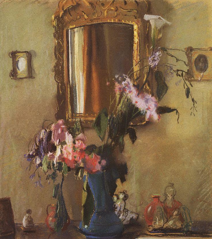 Сомов. Натюрморт: интерьер. 1931