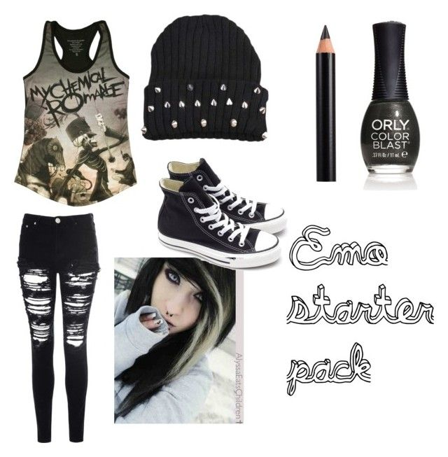 """Emo starter pack (jk)"" by blackpaint ❤ liked on Polyvore"