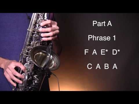How to play Stairway To Heaven - Alto Sax - Kb sax lessons
