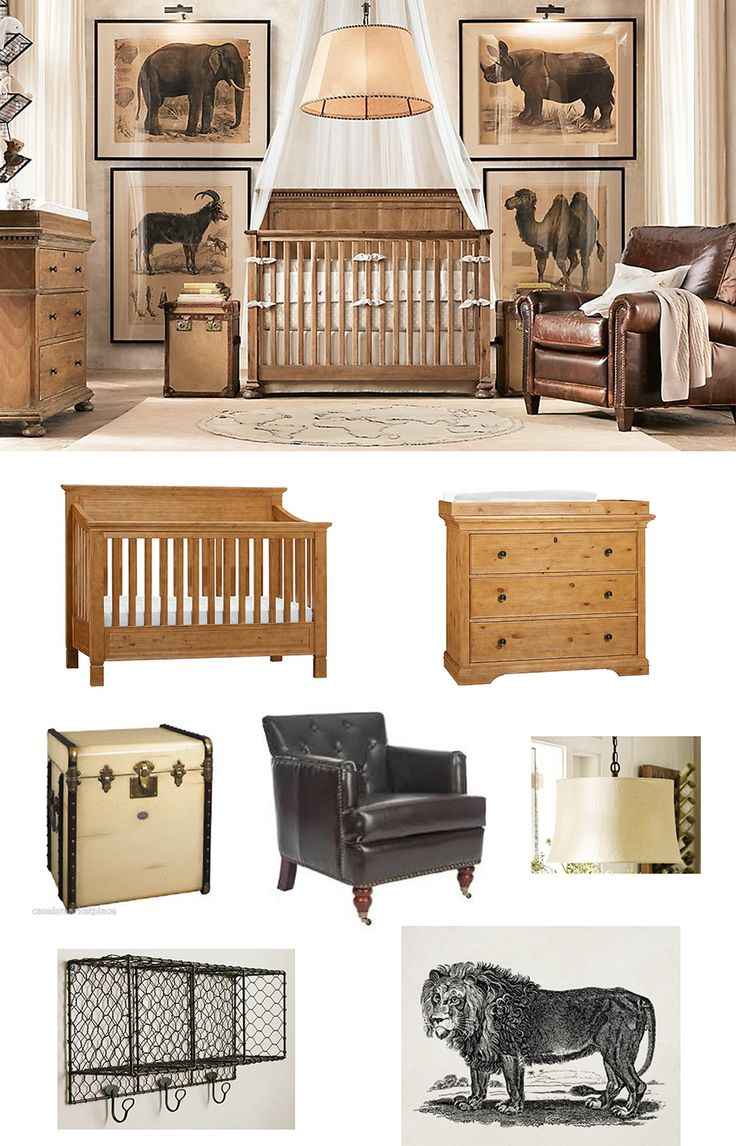Did you hear? The royal nursery is going to be Africa-themed! Here is one of our chic conceptions for the lucky couple.