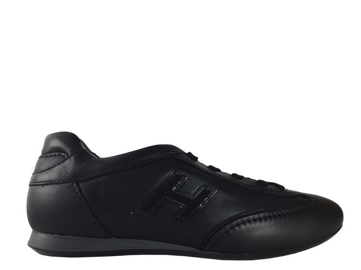 Sneakers Hogan - Olympia F en cuir noir