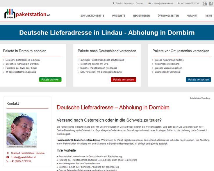 Paketstation Vorarlberg Pakete von deutschen Händlern an