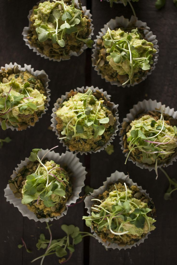 SPINACH, KALE   CHIA MUFFINS - The Healthy Chef - Teresa Cutter