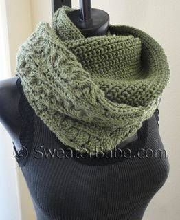 """#164 Night and Day Eternity Scarf PDF Knitting Pattern. Easily my """"Go to"""" scarf for when I'm running out the door. I want to knit one in a creamy cashmere blend! SweaterBabeKnittingGiveaway"""