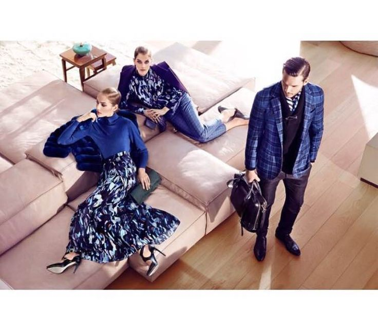 Larusmiani FW15/16 Collections.  The geometric beauty enhanced by blue tones.