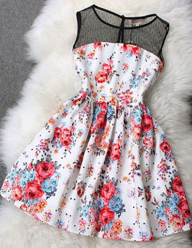This dress could look really pretty if it is really flattering on top,comes in at the waist, and then flares out at the skirt.
