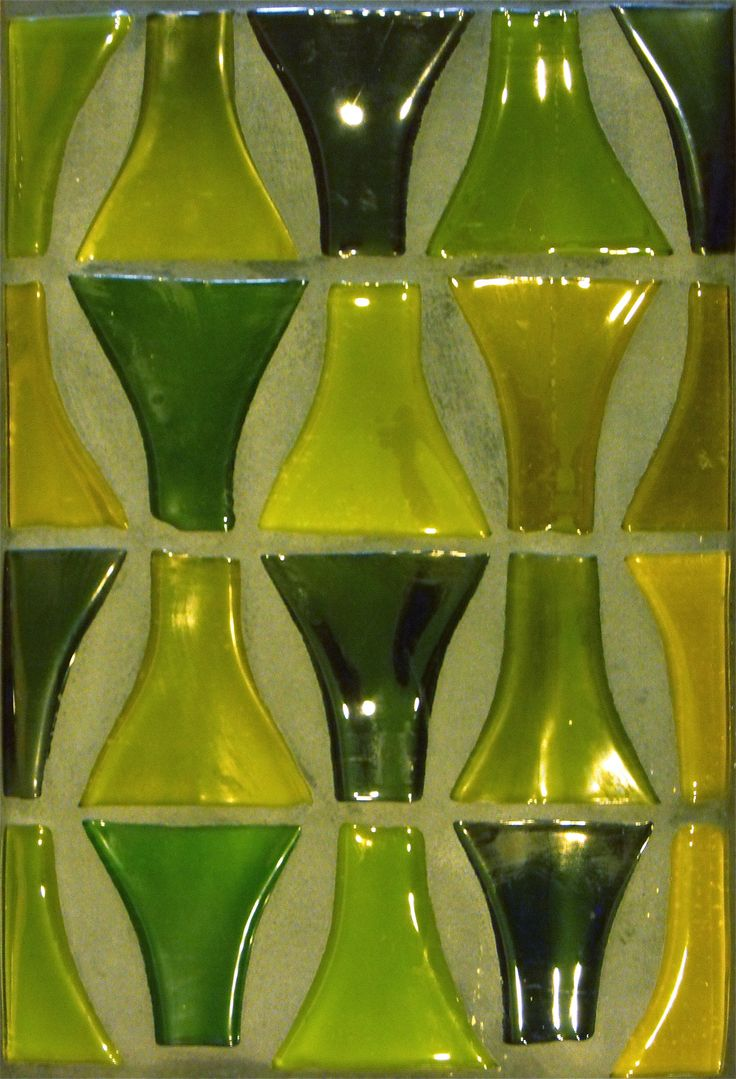 Recycled wine bottle glasses - Wine Bottle Tiles