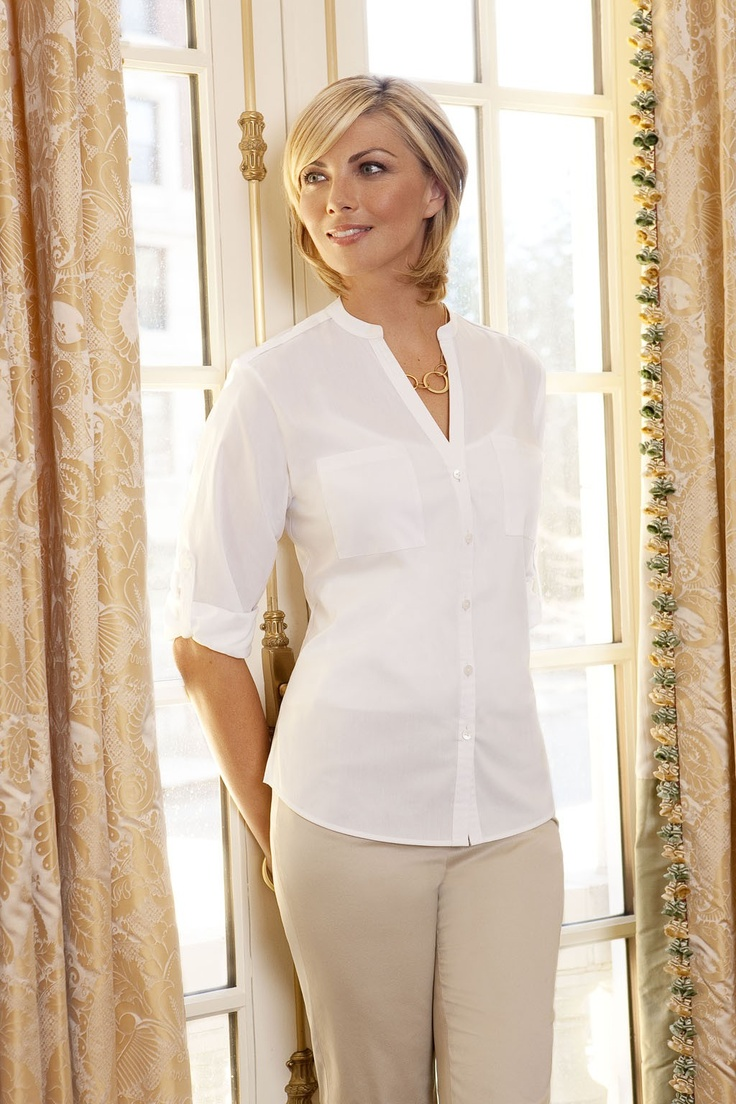 Foxcroft White Stretch Collar Shirt!White Stretch, White Shirts, Cotton Shirts, Classic White, Foxcroft White, Collars Shirts